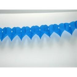 déco en papier : guirlande de cœur 3m turquoise