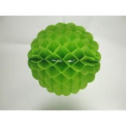 déco en papier : boule festonné 25cm vert anis