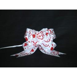 nœuds automatiques : 25 modèles papillons 19*20cm Ref 50/115 BLANC + coeur rouge