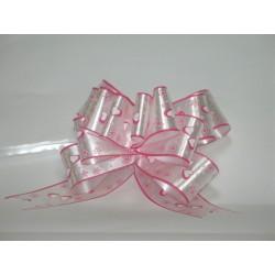 nœuds automatiques : 25 modèles papillons 19*20cm Ref 50/115 BLANC + cœur rose