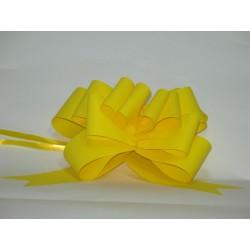 nœuds automatiques : 25 modèles papillons 6*7cm Ref 16/28 jaune effet kraft