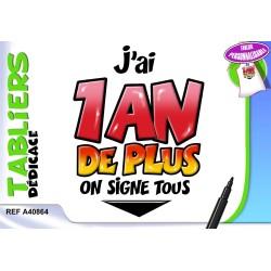 tablier + stylo 1 an de +