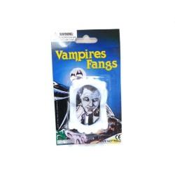 Dentier vampire canines ensanglantées