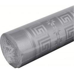 nappe damassée 1,2 x 6m gris