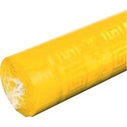 nappe damassée jaune citron 1,2 x 6m