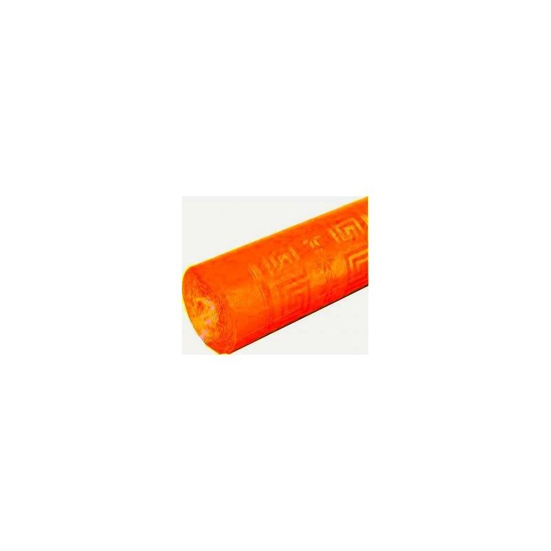 nappe damassée 1,2 x 6m orange (mandarine)