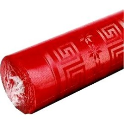 nappe damassée 1,2 x 6m rouge