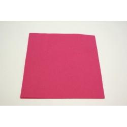 serviettes imitation tissu 40 x 40 cm fuchsia (pivoine) (les 25)