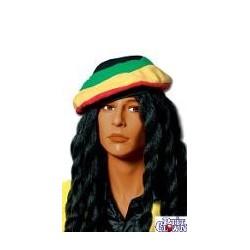 perruque : rasta avec berret