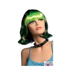 Perruque : Julie noire et verte