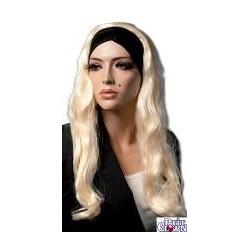 Perruque : Barbara blonde longue avec bandeau