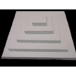 Plateau polystyrène: pyramide carrée 5 étages (base 50 cm - sommet 10 cm)