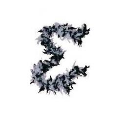 Accessoires : Boa en plumes noir et blanc