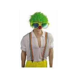 Accessoires : Bretelles rayées clown