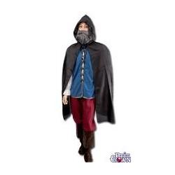 déguisement : cape en tissus avec capuche 1.15m