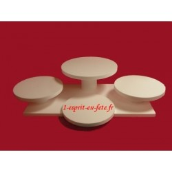 polystyrène : carrée : présentoir de 5 à 7 gâteaux (n°9)