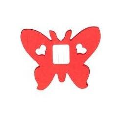 déco en papier : Guirlande papillons rouge 4m