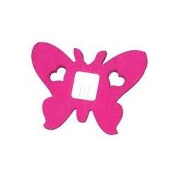 déco en papier : Guirlande papillons fuchsia 4m