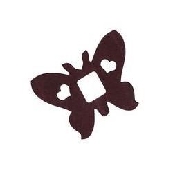Déco en papier : Guirlande papillons 4m chocolat