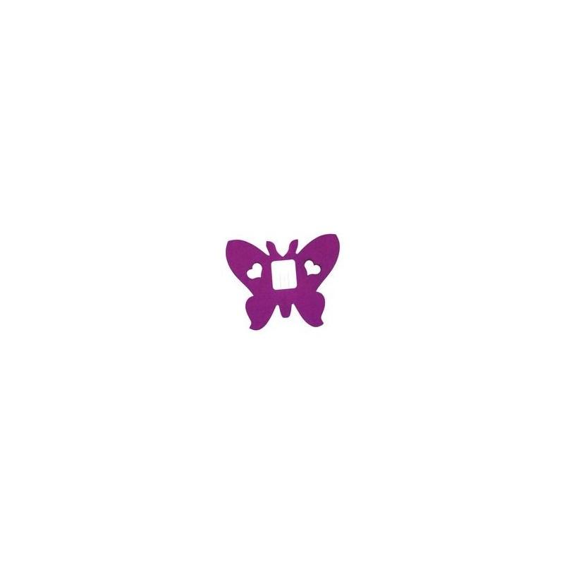 Déco en papier : Guirlande papillons 4m violet