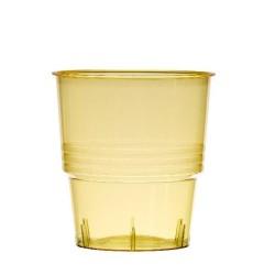 Verrerie : 10 verres jaunes 25cl