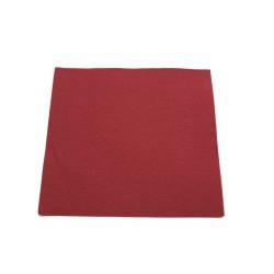 """50 serviettes molletonnées 38x38cm """"tendance"""" bordeaux"""