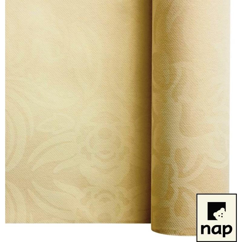 nappe imitation tissu floralie ivoire 1,2*10m