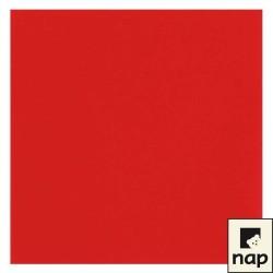 25  serviettes imitation tissu 40 x 40 cm rouge