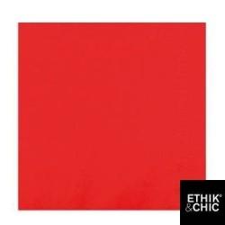 100 serviettes ouate lisse  38x38cm 2 feuilles rouge