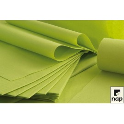 25 serviettes imitation tissu 40 x 40 cm vert pomme