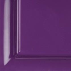 12 assiettes plastique carrées 21.5 cm violet