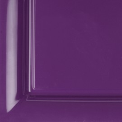 12 assiettes plastique carrées 16.5 cm violet