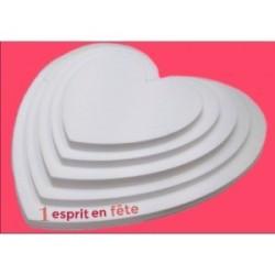 Plateau polystyrène: pyramide coeur de 80 à 40 cm