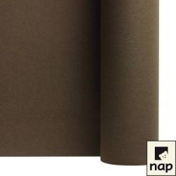 nappe imitation tissu 1,2*10m chocolat