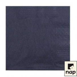 serviettes ouate 39 x 39 cm noire (les 100)