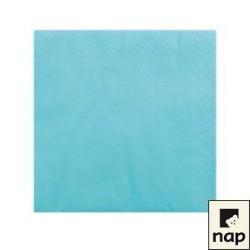 """50 serviettes molletonnées  38x38cm """"tendance"""" turquoise"""
