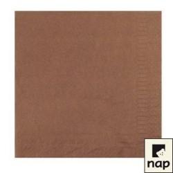100 serviettes ouate lisse 38 x 38 cm 2 feuilles chocolat
