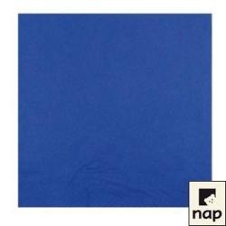 100 serviettes ouate microgaufrée 38 x 38 cm 2 feuilles bleu marine