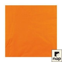 serviettes ouate 38 x 38 cm orange (mandarine) (les 100)