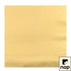 100 serviettes ouate lisse 38x38 cm 2 feuilles ivoire