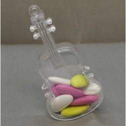 4 violons en pvc transparent pour dragées
