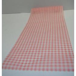 chemin de table vichy rouge 30cm x 5m