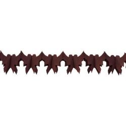 déco en papier : guirlande de colombe 4m chocolat