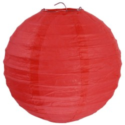 2 Lanternes rouge 30cm