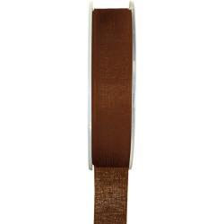 ruban organdi chocolat 15mmx20m