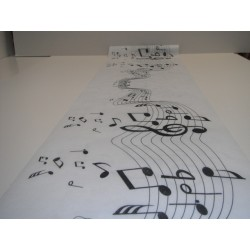 Chemin de table notes de musique 30cm x 5m