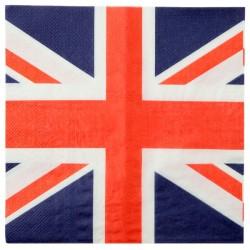 Serviettes ouate Royaume-Uni 16,5 x 16,5 cm les 20