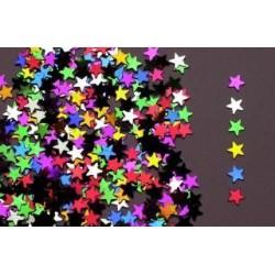 Confettis de table étoiles multicolores 14gr