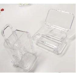 Valise transparente pièces