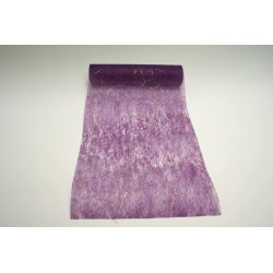 nappage : chemin de table 10mx30cm violet et fils lurex or